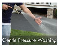 gentle pressure washing services