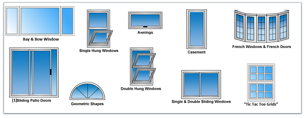 Residential window cleaning for Types of windows
