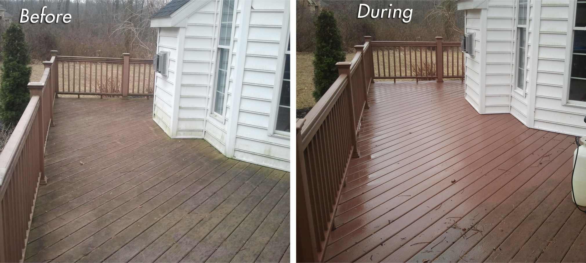 Beautiful Pressure Washing Composite Deck | Lancaster County PA. We ...